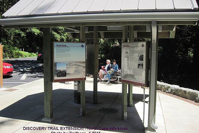 Discovery Trail DISCOVERY TRAIL EXTENSION Info kiosk at North Cape parking lot and trail end