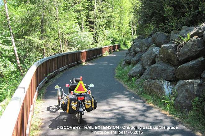 Discovery Trail DISCOVERY TRAIL EXTENSION Healthy outdoor exercise.  Is this the 9 or 10% grade?