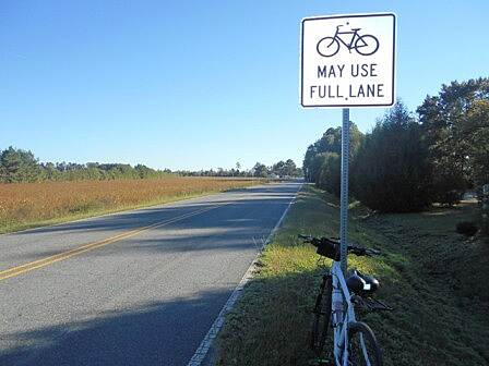 Dismal Swamp Canal Trail (VA) Bike lane A cyclist's favorite sign!