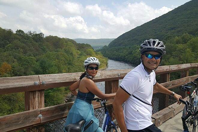 D&L Trail Crossing the Lehigh River Crossing the Lehigh River