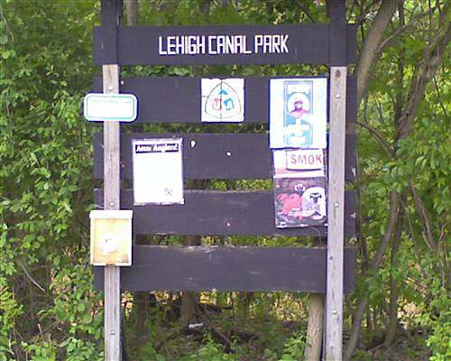D&L Trail Parking Lot Sign