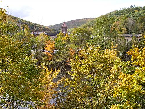D&L Trail D&L Trail Lehigh Canal (North) October 10, 2009 View of Jim Thorpe from trail.