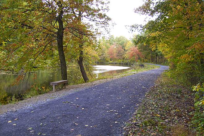 D&L Trail D&L Trail Lehigh Canal (North) October 10, 2009 View looking south outside of Weissport.