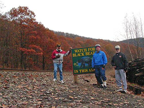 D&L Trail   Watch out for the bears!