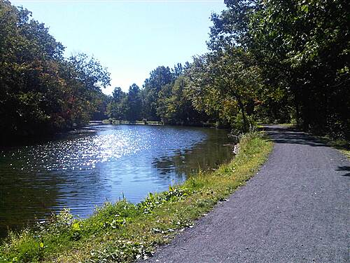 D&L Trail Lehigh Canal looking south, north of Weisport trailhead. September 18, 2010