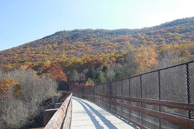 D&L Trail Lehigh Gorge Rail Trail  Late October 2014.   Beautiful