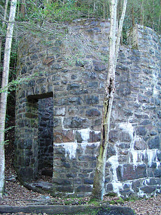 D&L Trail Structure along trail near Rockport An interesting structure! What was it used for?