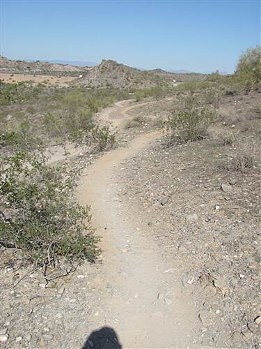 Dreamy Draw Bikeway Squaw Peak Highway Trail - Phoenix Mountains Preserve typical mtn bike trail