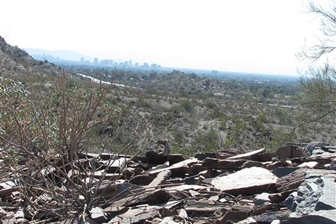 Dreamy Draw Bikeway Squaw Peak Highway Trail - Phoenix Mountains Preserve view of Phx from the top