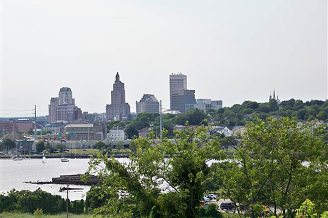 East Bay Bike Path View of Providence from the East Bay (East Providence)