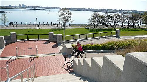 East Bay Bike Path India Park in Providence Nce view on top of the bridge