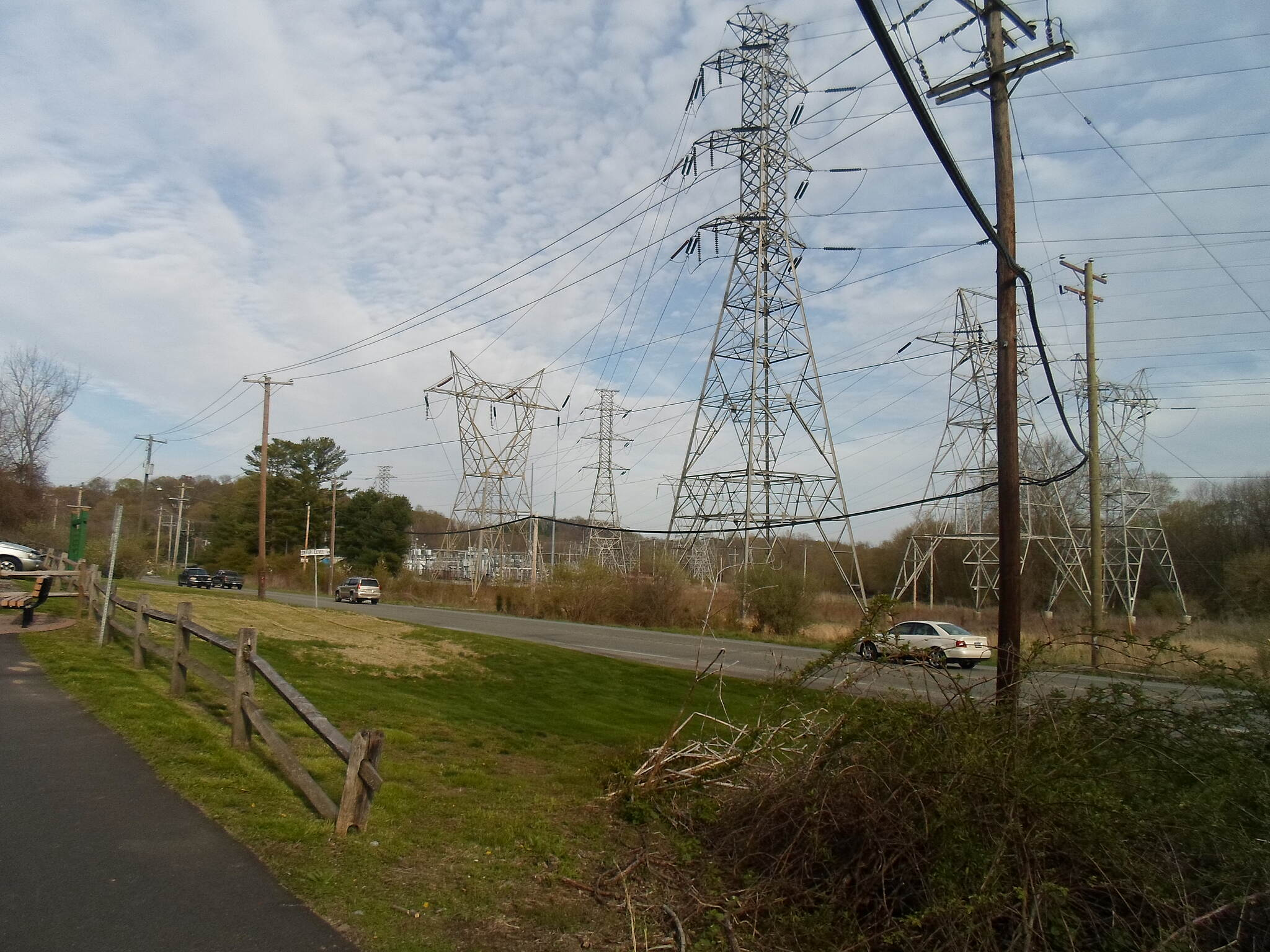 East Branch Brandywine Trail East Branch Brandywine Trail PECO electrical towers and busy Route 322, as seen from the southern trailhead.
