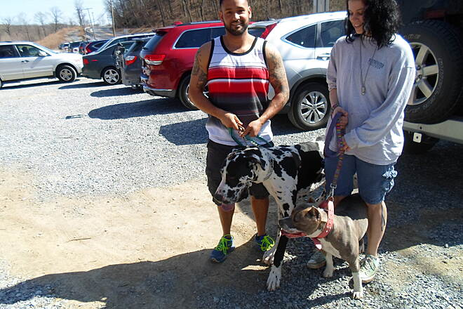 East Branch Brandywine Trail East Branch Brandywine Trail Couple and their dogs getting ready to enjoy the trail on a warm, spring day. Taken April 2015.