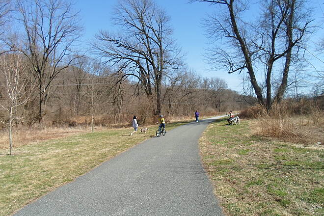 East Branch Brandywine Trail East Branch Brandywine Trail Families were out enjoying the trail on a warm, sunny day in April 2015.