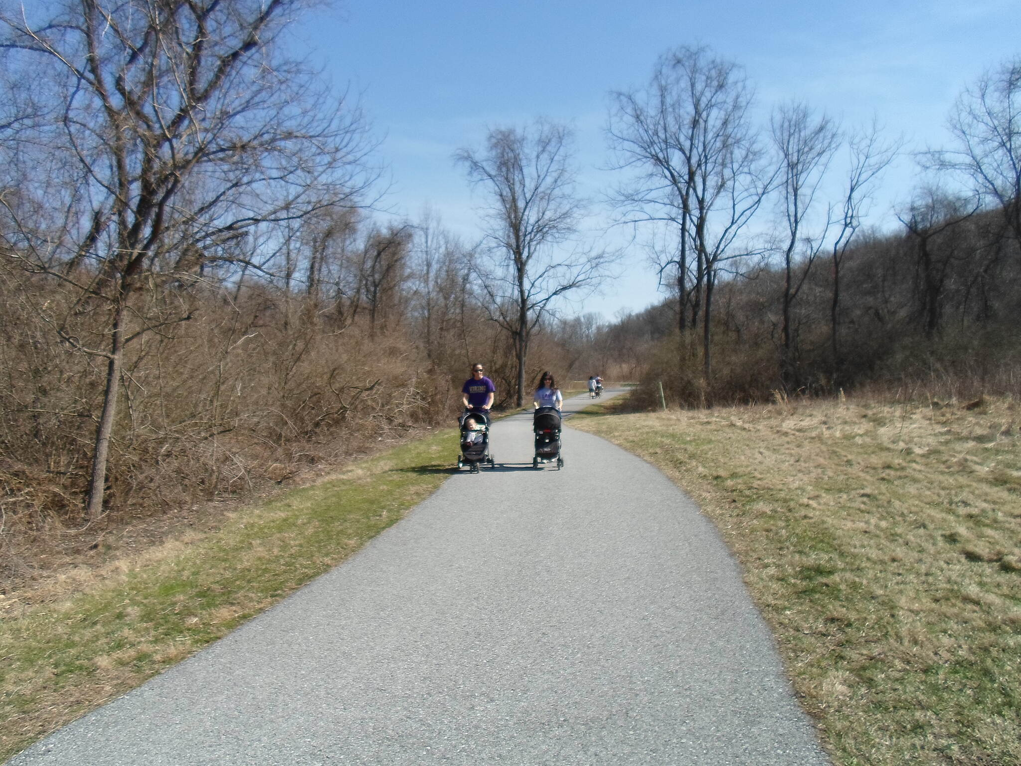 East Branch Brandywine Trail East Branch Brandywine Trail Parents pushing their children in strollers on a warm, April day.
