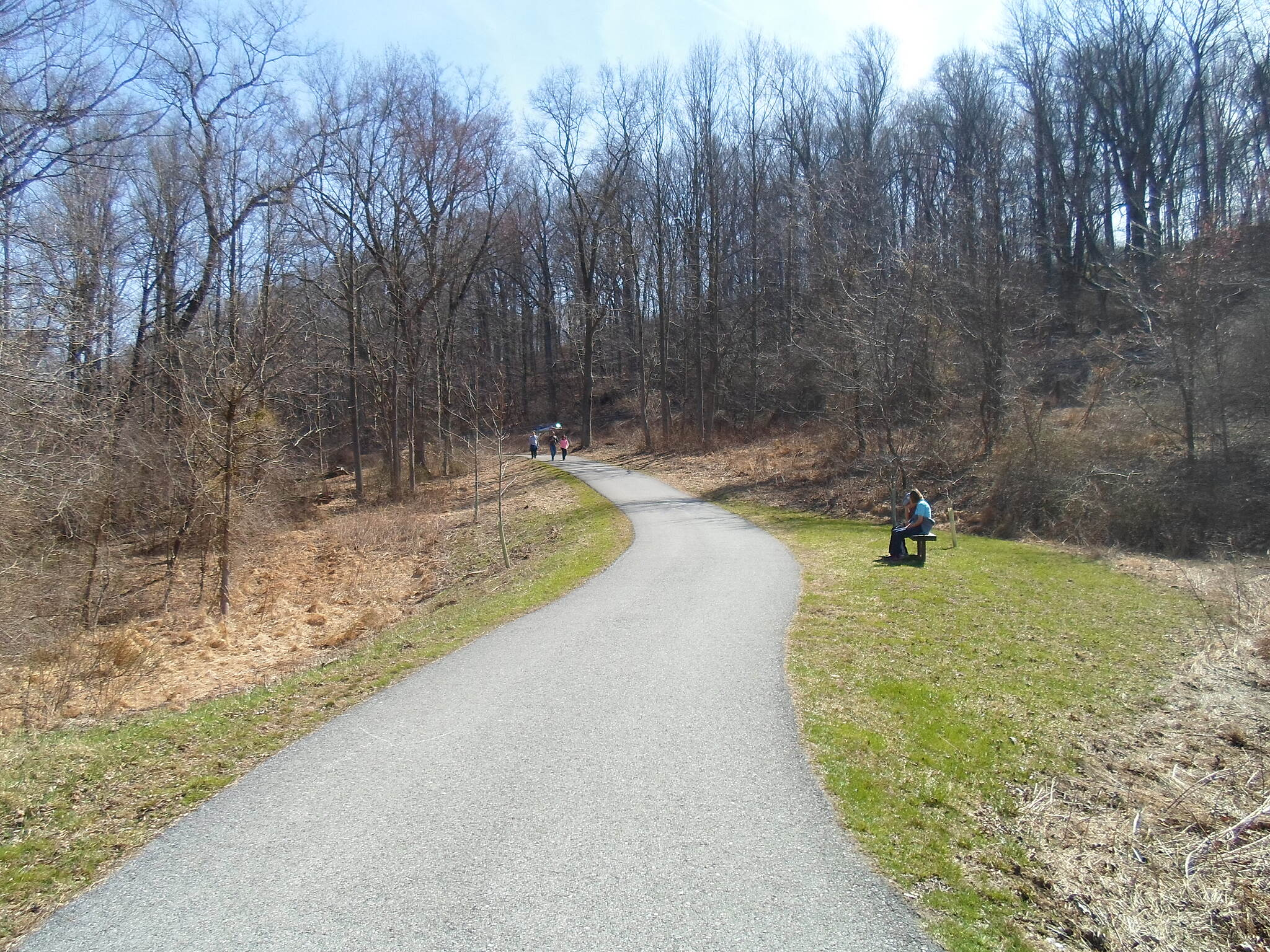 East Branch Brandywine Trail East Branch Brandywine Trail The trail is not level; this gentle slope is located about a mile south of the northern trailhead.