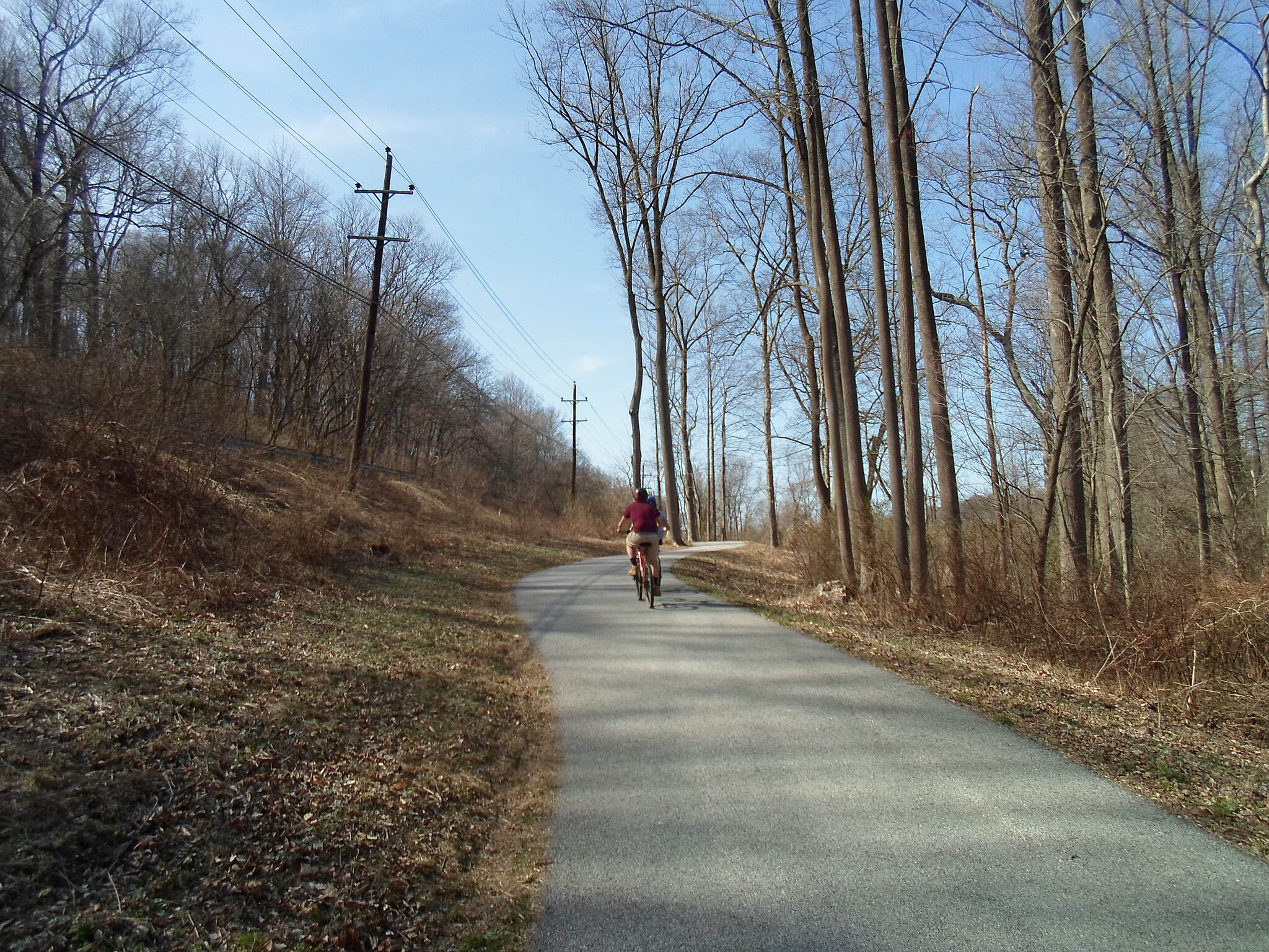 East Branch Brandywine Trail East Branch Brandywine Trail Cyclist heading north through the woods; Route 322 can be seen to the left. Taken April 2015.