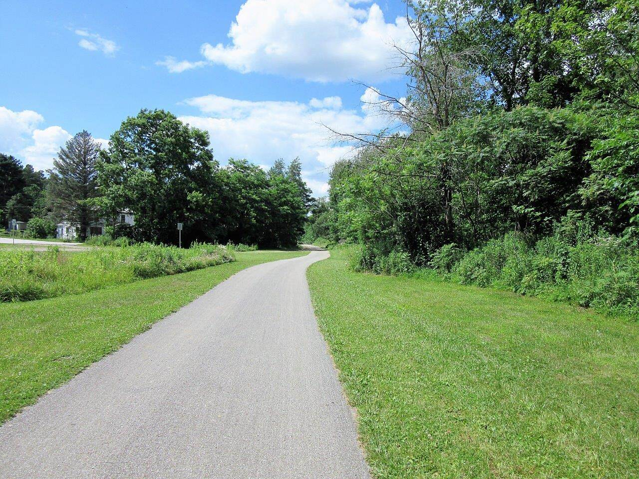 East Branch Trail (PA) Asphalt Paved-July, 2017 Fast and flat asphalt paved trail.  Heading out of Spartansburg.