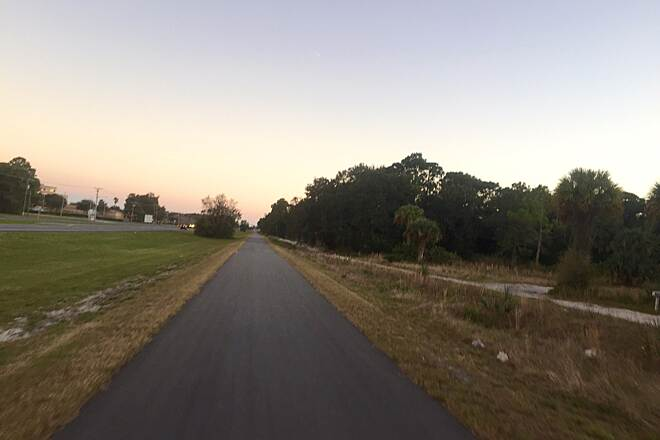 East Central Regional Rail Trail Skating Titusville Portion of East Central Trail