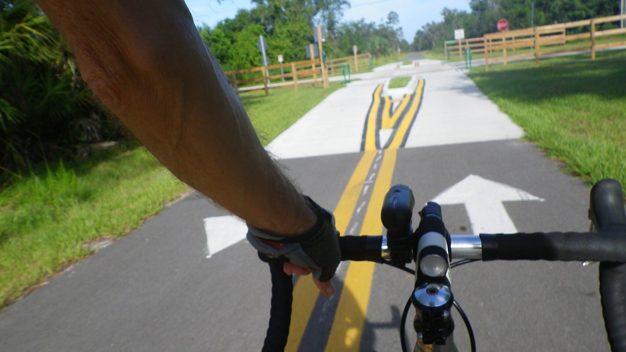 East Central Regional Rail Trail East Central Regional Rail Trail East Central Regional Rail Trail at road crossing.