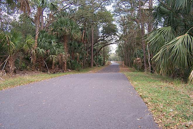 East Central Regional Rail Trail Enterprise FL segment of the East Central Regional Rail Trail.  Nestled between Doyle Rd and Enterprise-Osteen Rd and East of Green Springs Park the trail provides and leisure walk or bike path.
