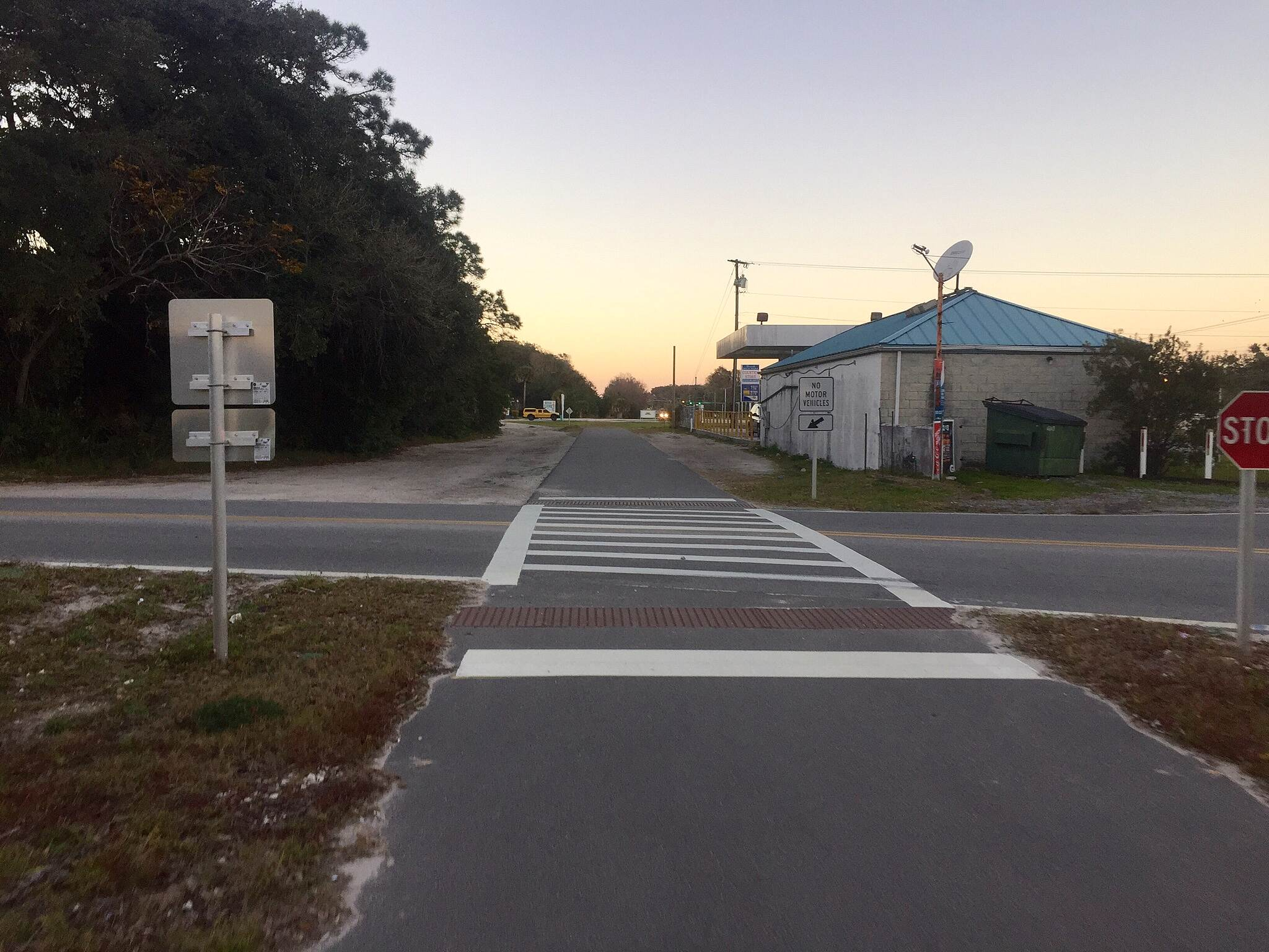 East Central Regional Rail Trail Side-road Interruption