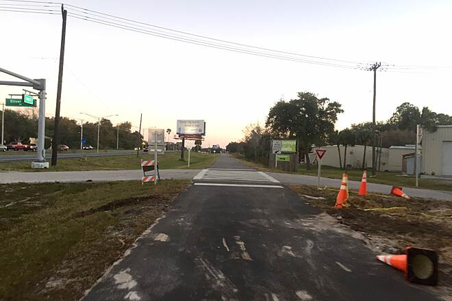 East Central Regional Rail Trail Construction Area Titusville Portion