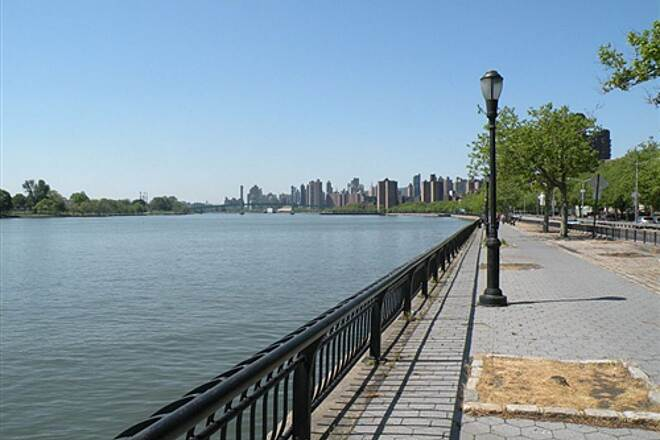 East River Greenway Bicycle Path along the East River This is a nice place to watch boats