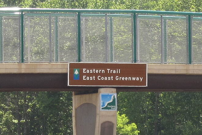 Eastern Trail Interstate Bridge Sign