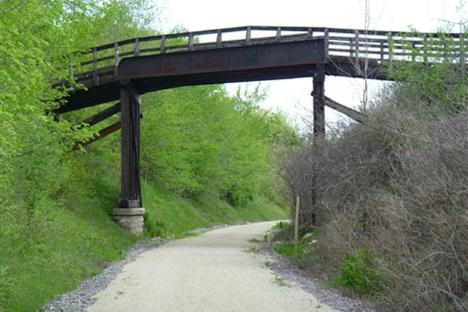 Eisenbahn State Trail Eisenbahn Trail Photo May 22, 2011 Abandoned train trestle just west of West Bend