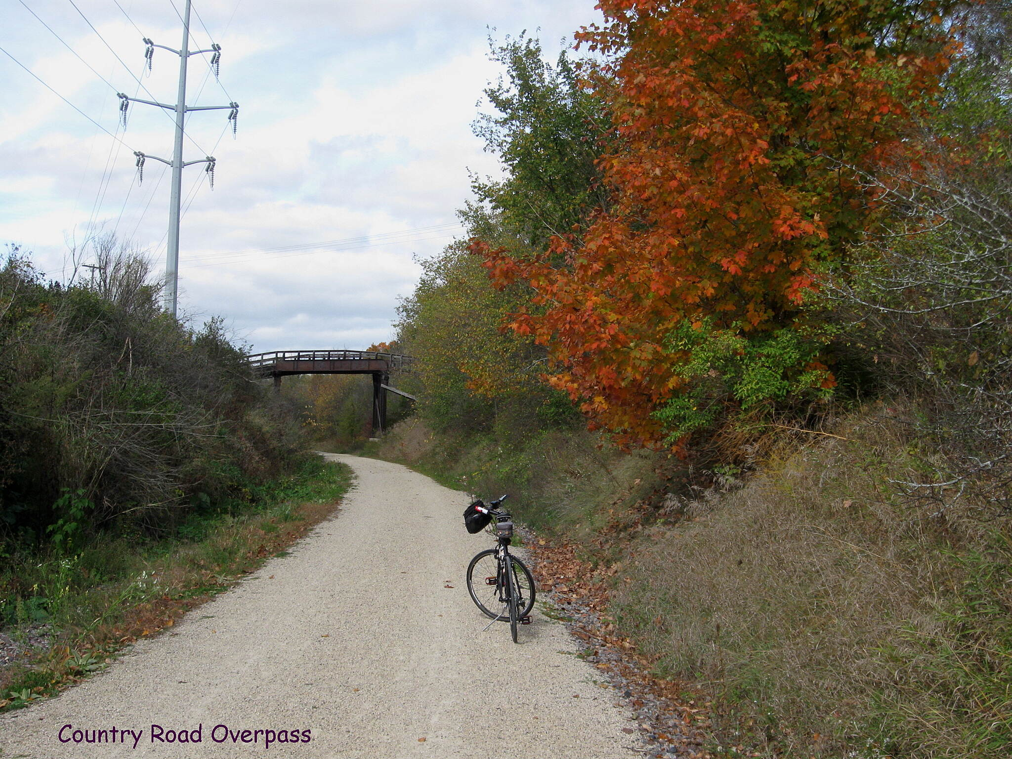 Eisenbahn State Trail Country Road Overpass