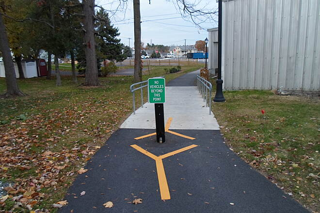 Elizabethtown Connector Trail Elizabethtown Connector Trail Bollard on the trail between Wilson Ave. and Brown Street on the west end.