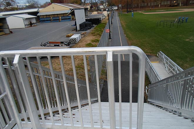 Elizabethtown Connector Trail Elizabethtown Connector Trail Looking down the stairway on the eastern approach to the bridge; bicycles, wheelchairs and strollers should use the ramp seen on the right.