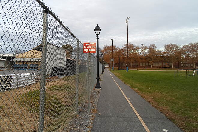 Elizabethtown Connector Trail Elizabethtown Connector Trail After crossing Conoy Creek, the trail runs along the north side of athletic fields. A sign warns users to watch for fly balls during baseball and softball seasons.