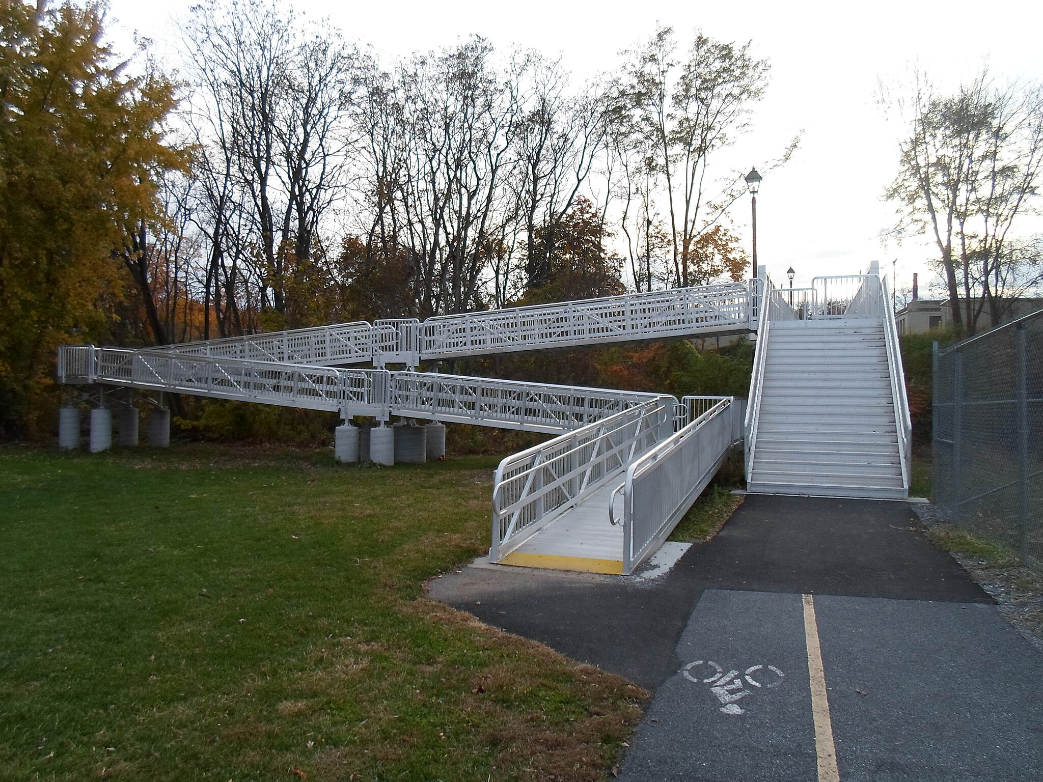 Elizabethtown Connector Trail Elizabethtown Connector Trail Good photo of the ramp, on left, and stairway descending from the east side of the Conoy Creek bridge.