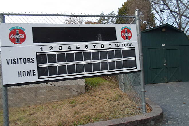 Elizabethtown Connector Trail Elizabethtown Connector Trail Another scoreboard, located next to the trail at the athletic fields.