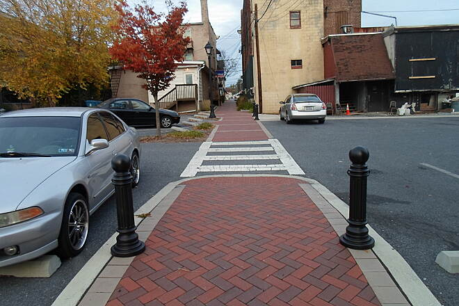 Elizabethtown Connector Trail Elizabethtown Connector Trail The trail retains its brick surface between Peach Alley and Market Street (Route 230).