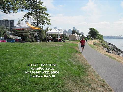 Elliott Bay Trail (Terminal 91 Bike Path) ELLIOTT BAY TRAIL It's HempFest time; sniff the air.