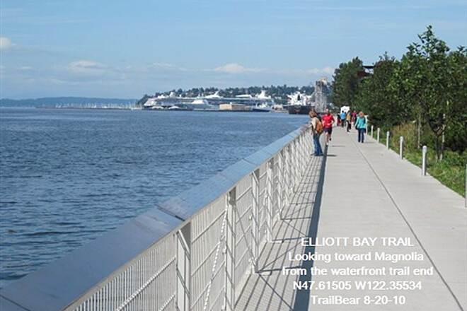 Elliott Bay Trail (Terminal 91 Bike Path) ELLIOTT BAY TRAIL Trail end views back from Alaskan Way end