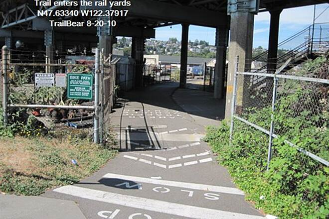Elliott Bay Trail (Terminal 91 Bike Path) ELLIOTT BAY TRAIL Now for the rail yards