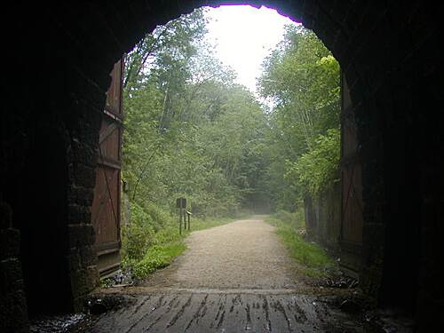 Elroy-Sparta State Trail Elroy-Sparta State Trail Inside the tunnel, looking out