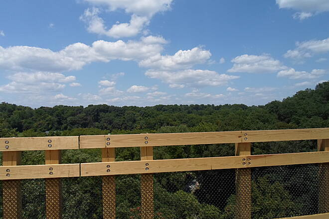 Enola Low Grade Trail Enola Low Grade Trail Summertime skies over Solanco. Taken from the newly opened Martic Forge Trestle in July 2015.