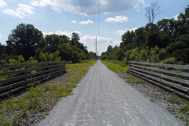 Enola Low Grade Trail Enola Low Grade Trail Bridge over Lime Street on the north side of Quarryville. Taken July 2015.