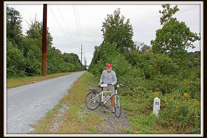 Enola Low Grade Trail 10,000 Mile Man John started riding at age 70 and at 72 hit 10,000 miles, most of the miles were done on the Providence section of the Enola trail---way to go John!