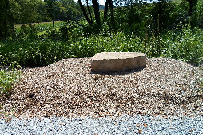 Enola Low Grade Trail Enola Low-Grade Trail Providence Township officials have found a creative use for stones that once formed parts of the old dismantled bridges; they now serve as benches on the trail.