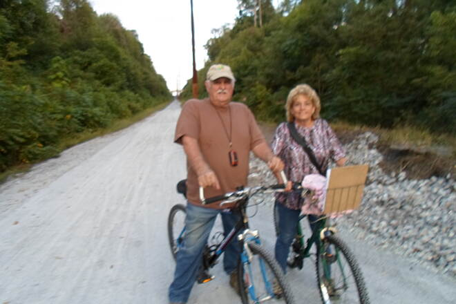 Enola Low Grade Trail Enola Low Grade Trail Couple enjoying the new, smooth surface and bridge over Sigman Road that were recently constructed on Providence Twp.'s segment of the trail.