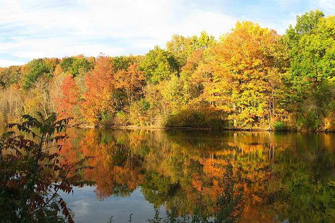 Erie Canalway Trail Erie Canal Trail Oct 2015 Fall colors between Lock 20 (Marcy) and Oriskany