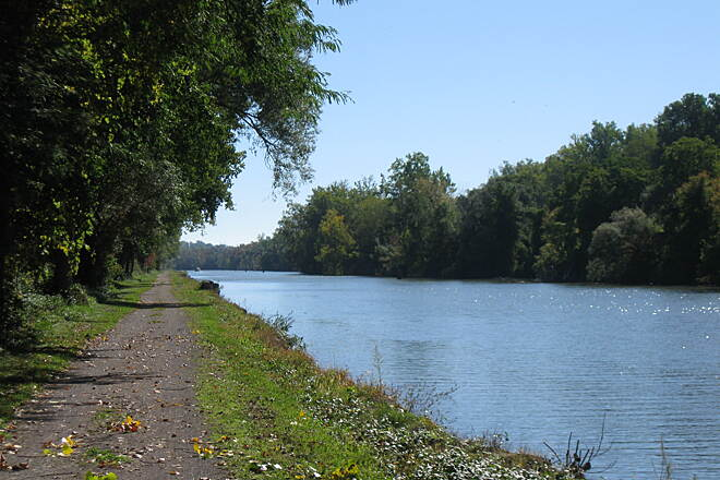 Erie Canalway Trail October along the Erie Canal Breathtaking view