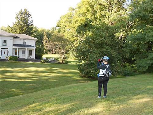 Erie Canalway Trail Erie Canal Heritage Trail - Gasport to Medina Section Wife Photographing Historic Home