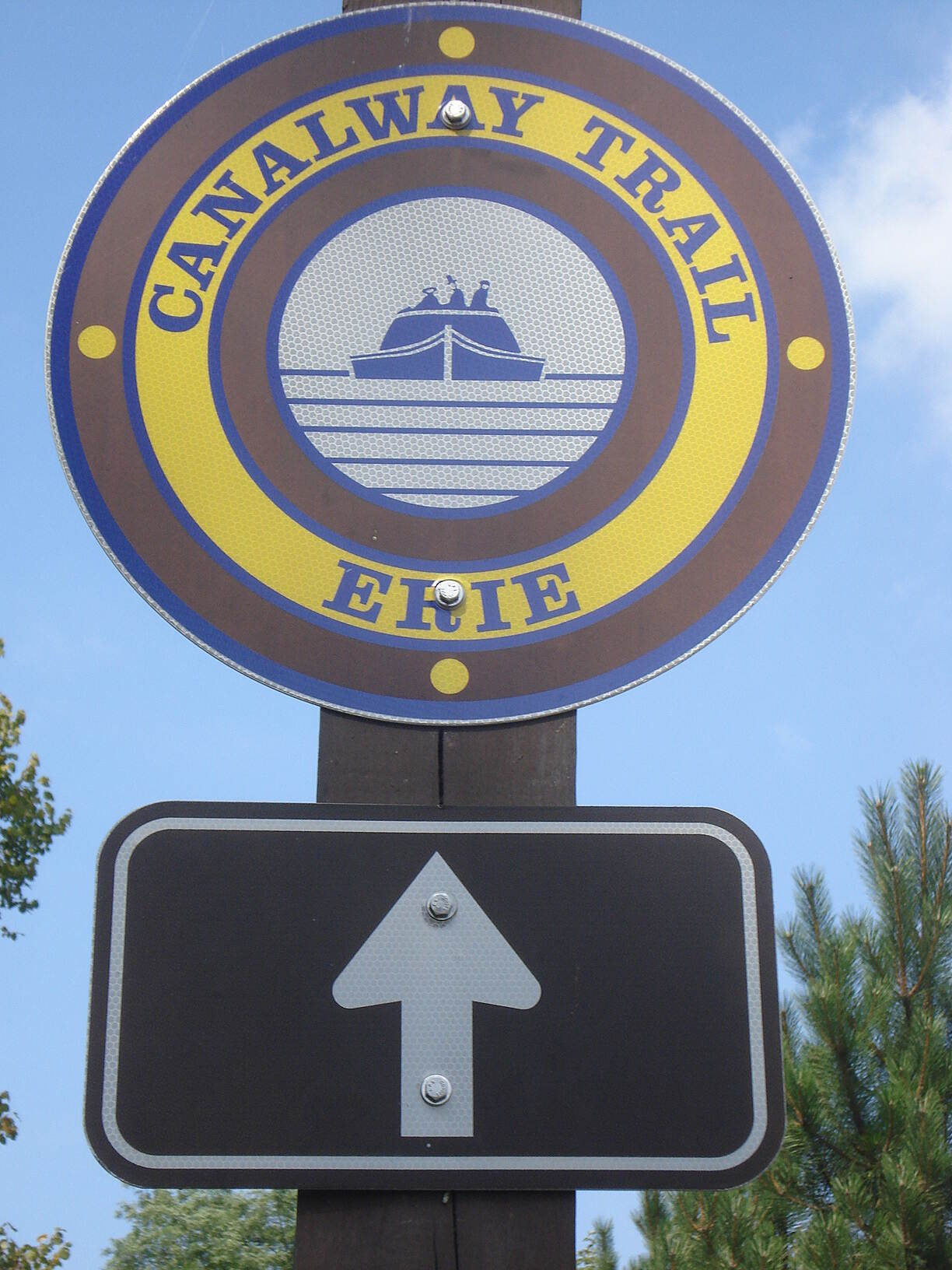 Erie Canalway Trail Erie Canalway Trail Trail  sign in Little Falls.